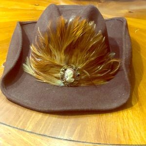 Cappelli pana Hat feathers cowgirl for sale